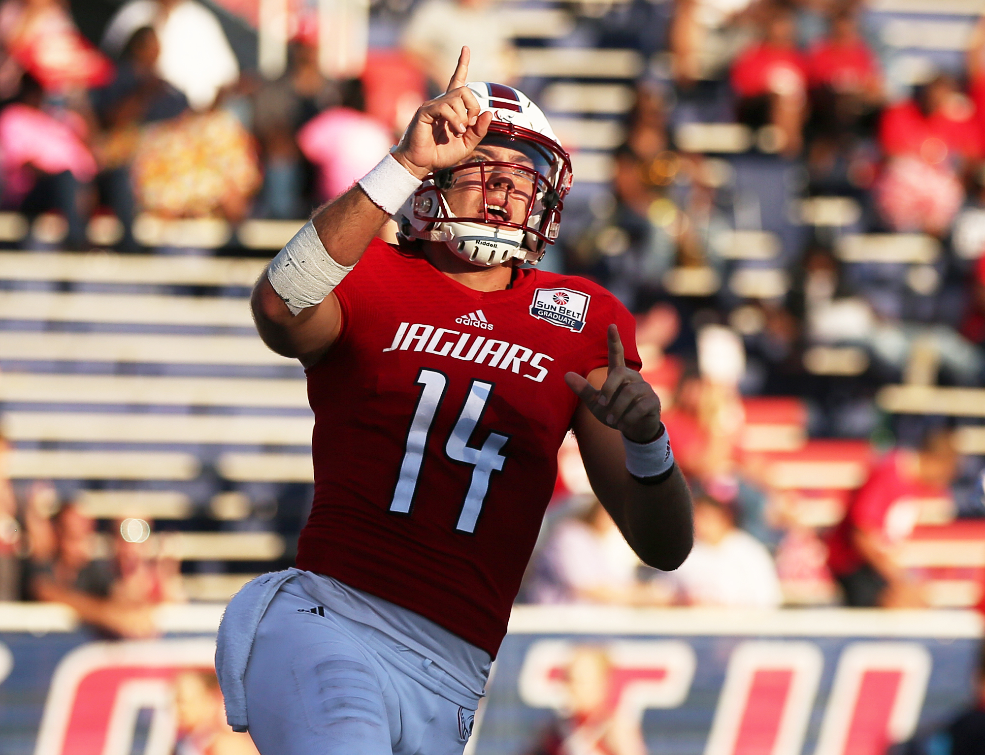 Quarterback Evan Orth and South Alabama host rival Troy in a nationally televised game Tuesday night. Mike Kittrell, for AL.com