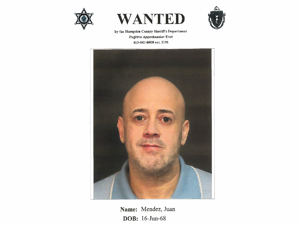 Hampden County Sheriff's Department issues BOLO for Juan Mendez, inmate who walked away from a job site
