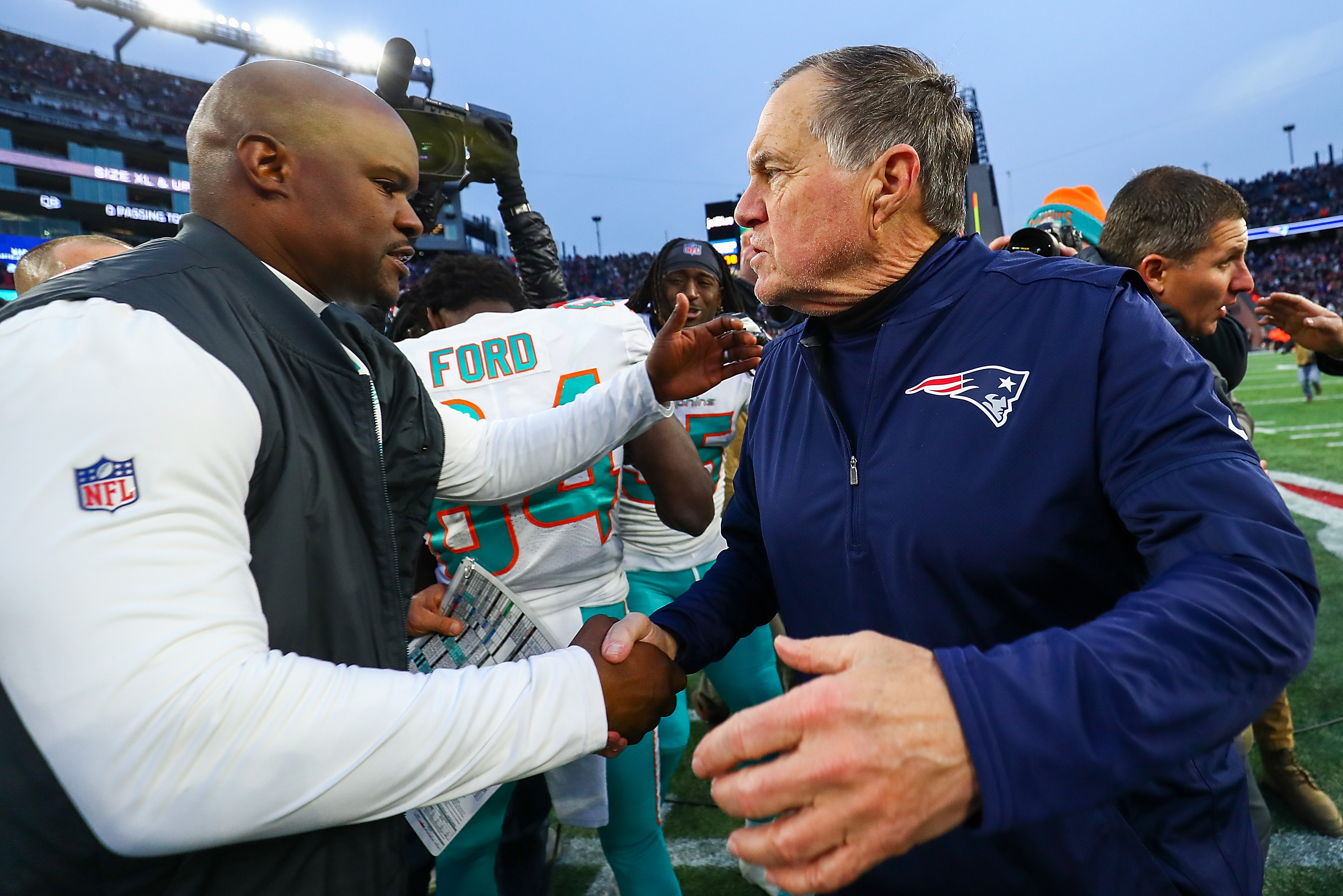 Beating Patriots special for Dolphins' coach Brian Flores, former New England players - masslive.com