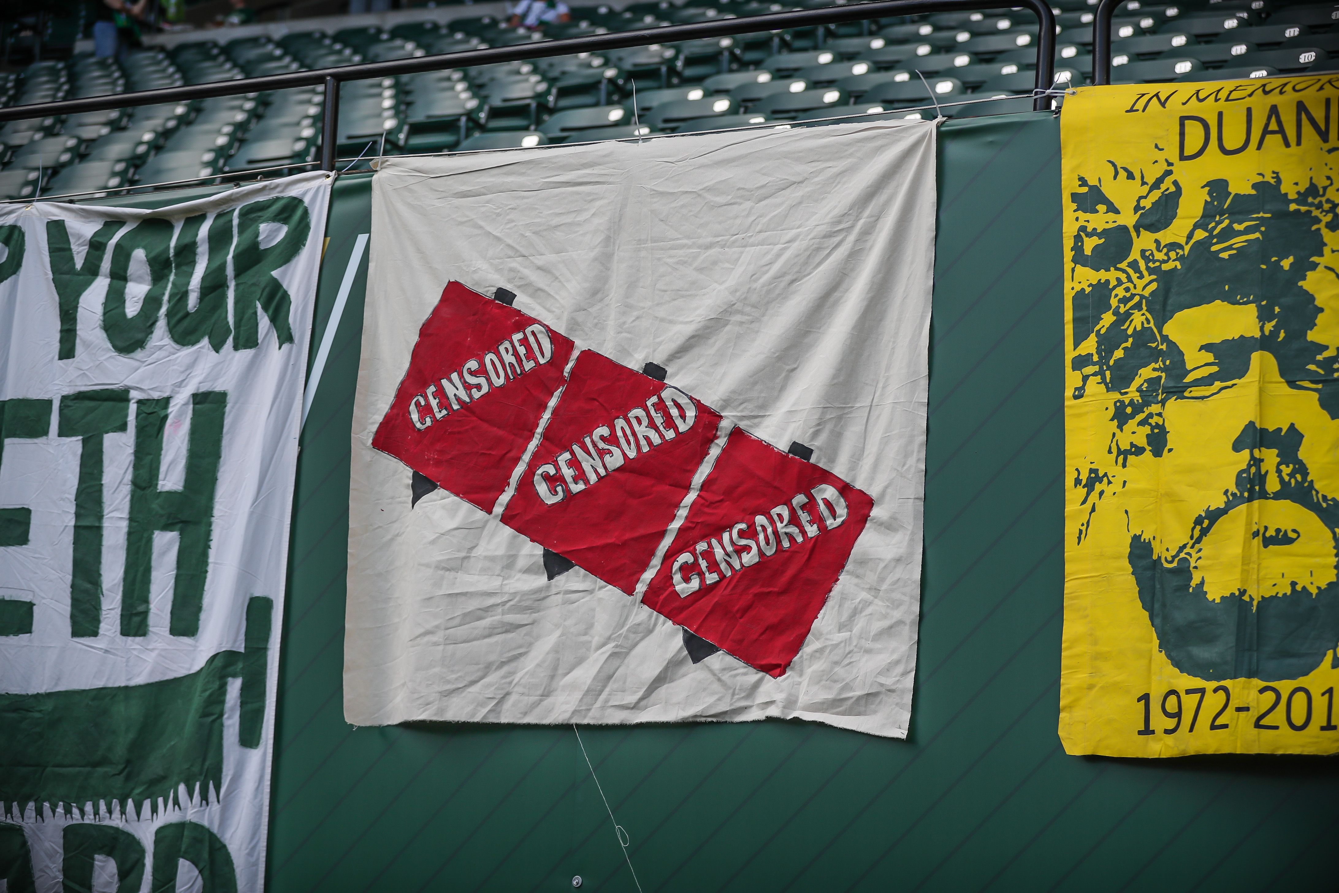 Portland Timbers fans reportedly banned for three games for waving Iron Front flags