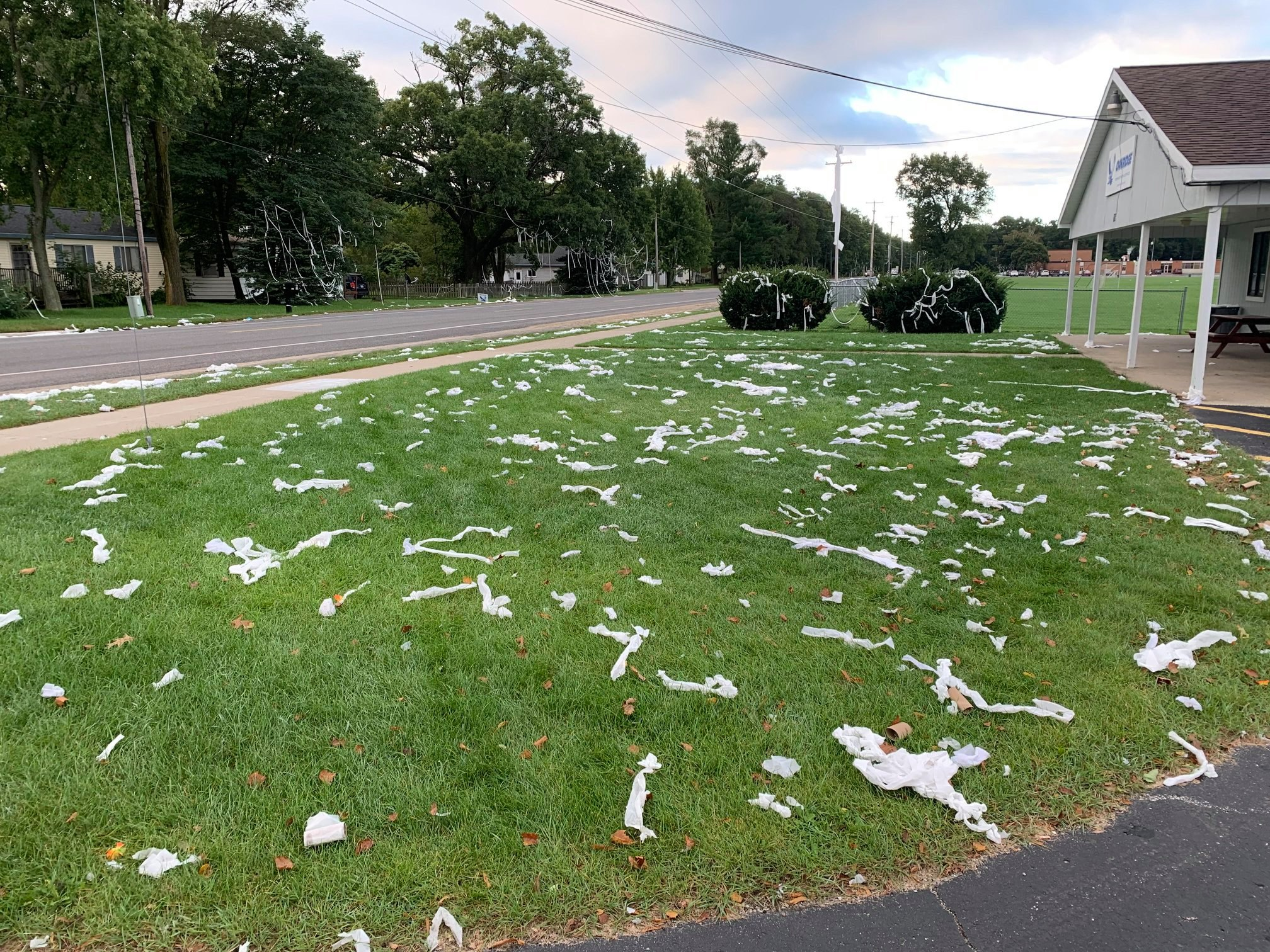 Michigan school cracks puns after TP used as 'homecoming decorations'