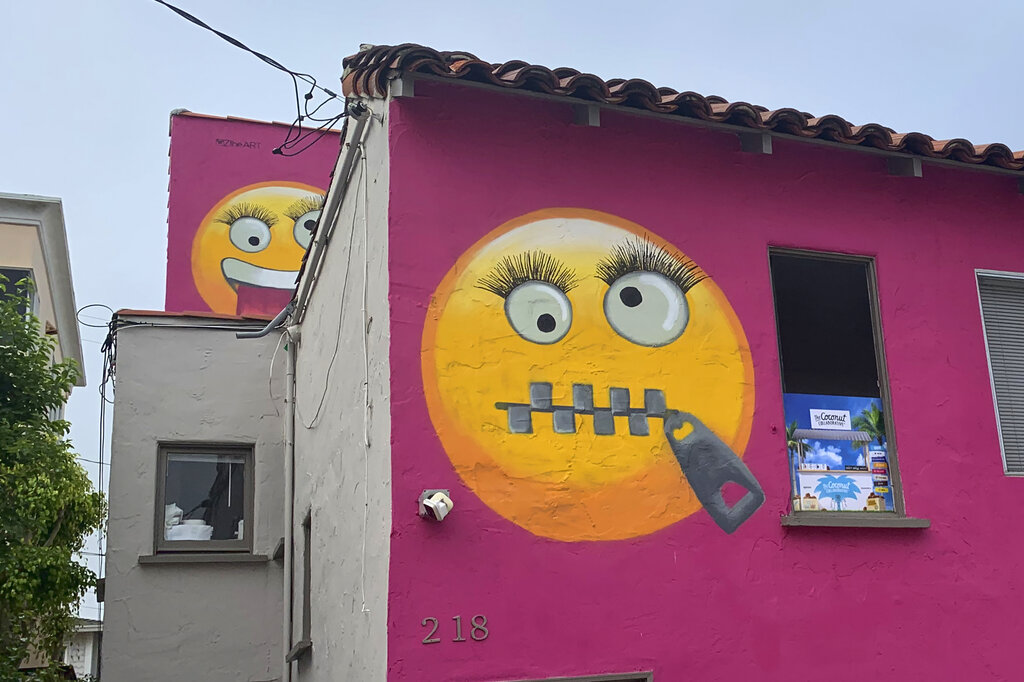 How a petty fight in a wealthy neighborhood ended with a home covered in giant emoji